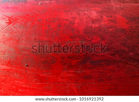 Grungy red texture, old surface of metal boat, abstract background