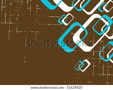 Grungy retro background with rectangles (JPG); a vector version is also available - stock photo