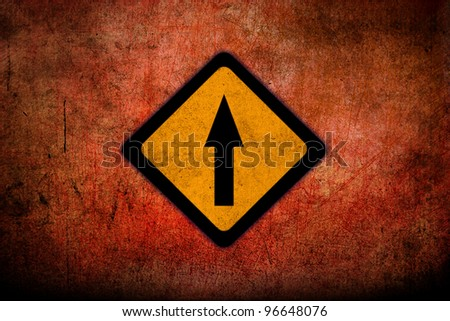 Grungy Road Sign Glossy - stock photo