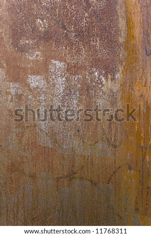 Grungy rusty metal texture for background - stock photo