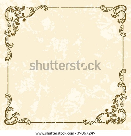 Grungy square vintage sepia frame (JPG); a vector version is also available