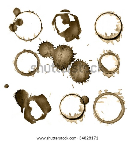 Grungy stains - stock photo