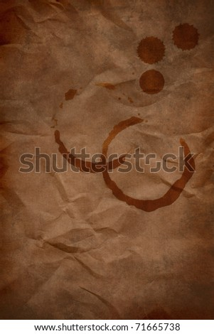 Grungy stains coffee and coffee splashes - stock photo
