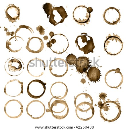 Grungy stains collection - stock photo
