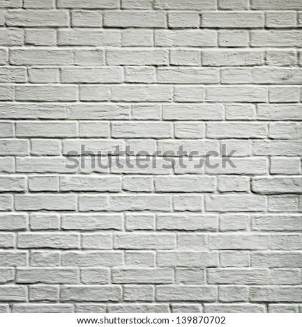 Grungy Textured White Horizontal Stone Brick Stock Photo Royalty