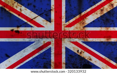 Grungy United kingdom flag On a Metal Texture
