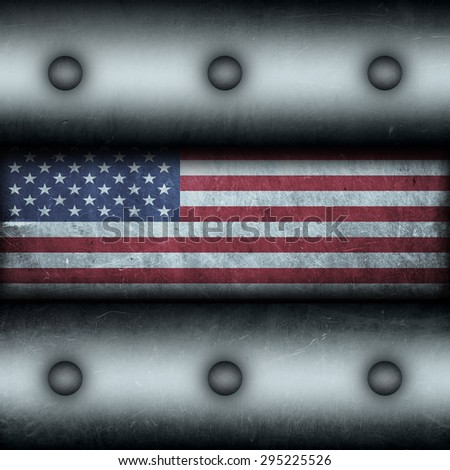 Grungy USA as a metal background. - stock photo