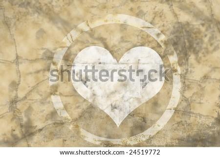 Grungy Valentine card - stock photo