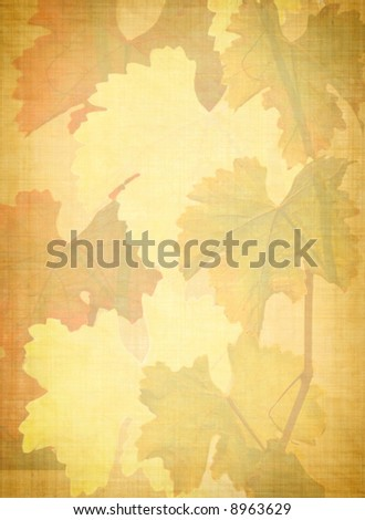 grungy vine leaves background - stock photo