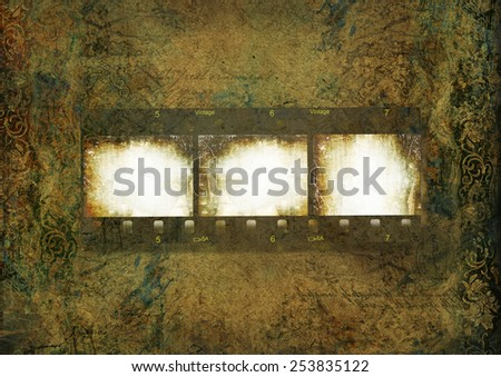Grungy vintage background with film for photo - stock photo