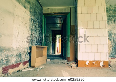 GRUNGY VINTAGE INTERIOR - stock photo