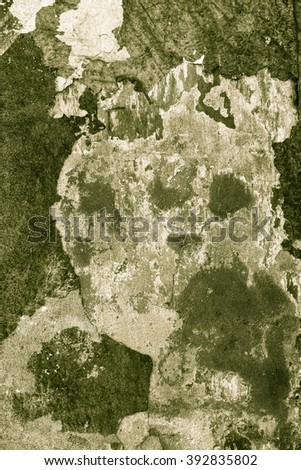 Grungy wall Sandstone surface background / Damaged facade - stock photo