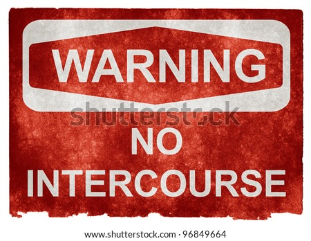 Grungy Warning Sign on Vintage Paper with a Comic Twist - stock photo