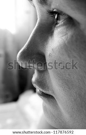 grusnoy women face close up - stock photo