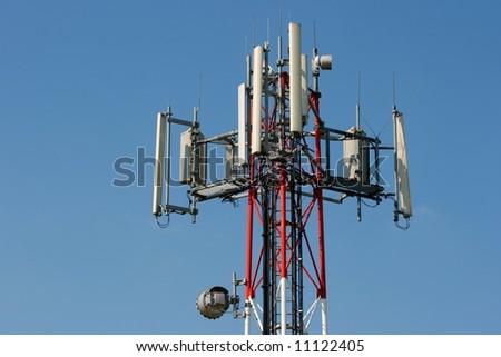 GSM transmitter - stock photo