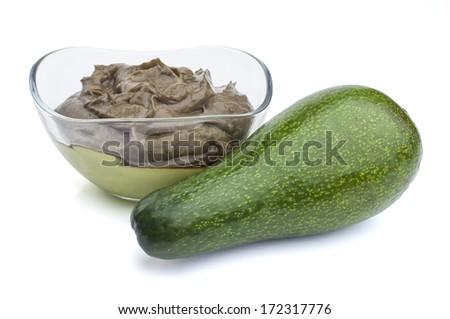Guacamole with avocado  - stock photo