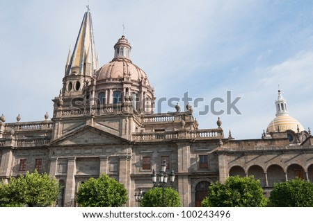 Guadalajara cathedral, Jalisco (Mexico) - stock photo