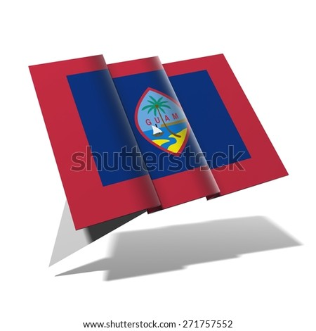 Guam flag 3D banner - stock photo