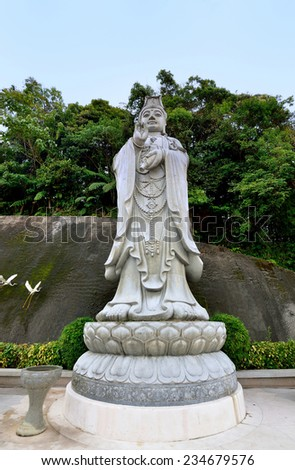 Guan Yin buddha which is located at Chin Swee Caves Temple,Genting Highland - stock photo