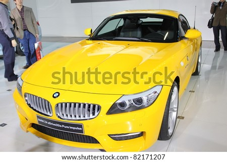 GUANGZHOU, CHINA - DEC 27:BMW z4 car on display at the 8th China international automobile exhibition. on December 27, 2010 in Guangzhou China.