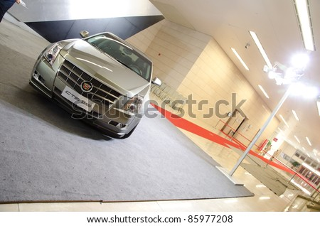 GUANGZHOU, CHINA - OCT 02: Cadillac CTS 3.0 SIDI car on display at the Guangzhou daily Baiyun international automobile exhibition. on October 02, 2011 in Guangzhou China.