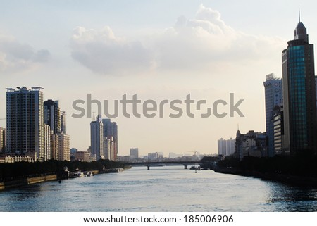 Guangzhou Pearl River - stock photo