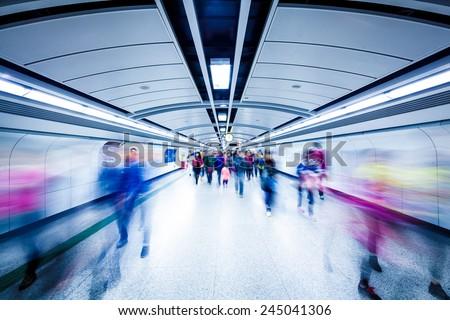Guangzhou subway station  - stock photo