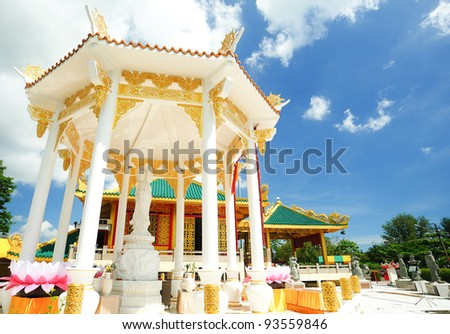 Guanyin statue,thailand - stock photo