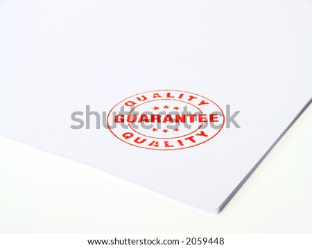 Guarantee Rubber stamp - stock photo