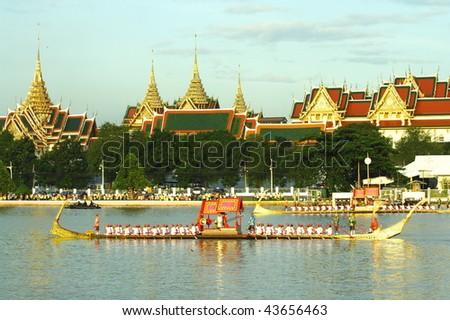 Guard ship background king palace - stock photo