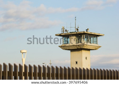 guard tower - stock photo
