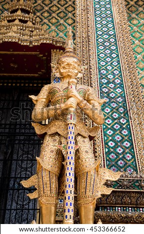 Guardian sculpture in Thailand temple