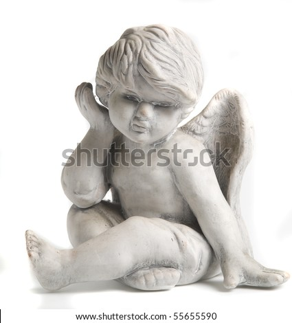 Guarding angel statue - stock photo