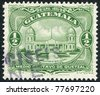 GUATEMALA - CIRCA 1929: Postage stamps printed in Guatemala, shows a National Observatory (inscription 1926), circa 1929 - stock photo