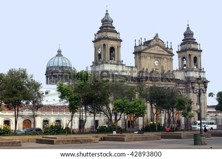 Guatemala City Cathedral - stock photo