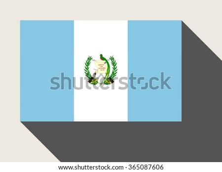 Guatemala flag n flat web design style. - stock photo
