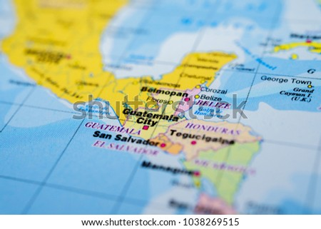 Guatemala On Map Stock Photo (Royalty Free) 1038269515 - Shutterstock