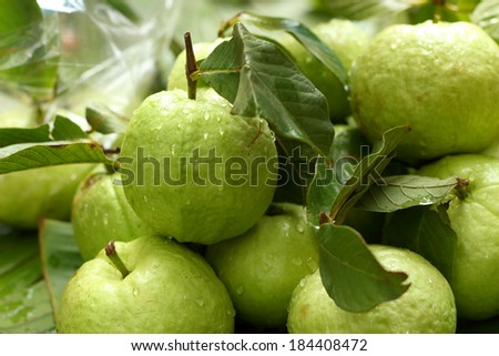Guava fruit in the market - stock photo