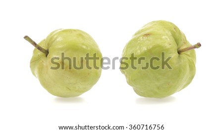 guava fruit isolated on white background