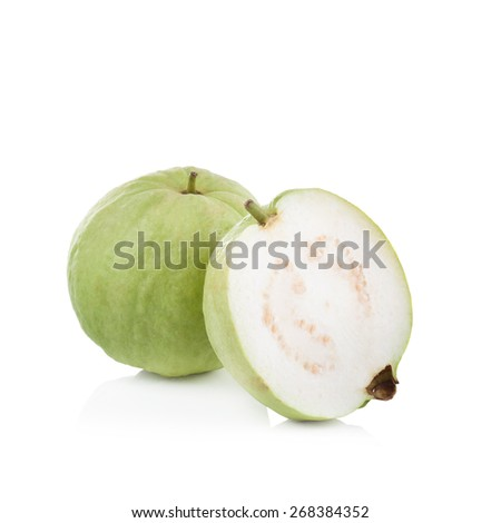 guava fruit on white background - stock photo