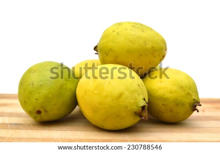 Guava Fruits Isolated on Wooden board