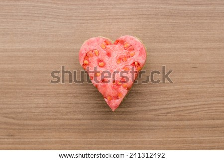 Guava Heart - stock photo