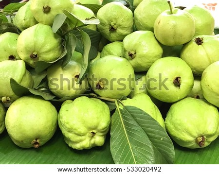 Guavas in the market