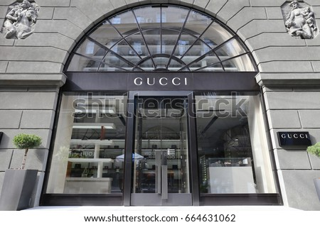 Gucci store - Ukraine, Kiev - June 17, 2017