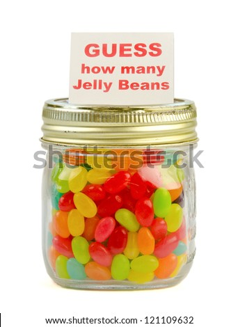 Guess how many jelly beans in a mason jar