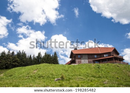 Guesthouse in the mountains in summer