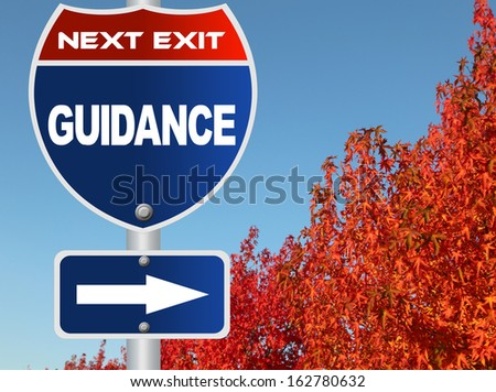 Guidance road sign - stock photo