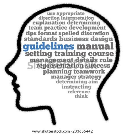 Guidelines in words collage - stock photo