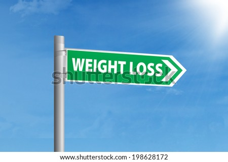 Guidepost to choose weight loss. shoot outdoors
