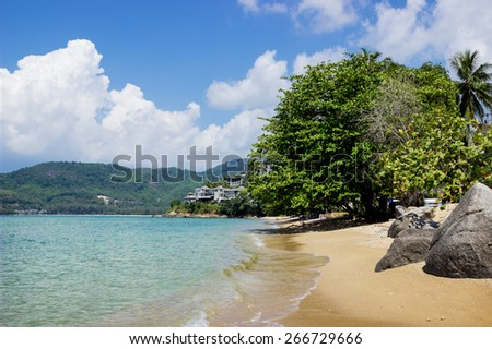 Guiet sea wave sand beach. Phuket. Thailand - stock photo